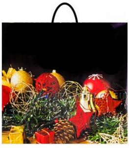 НГ Пакет с пласт. ручкой ФОТОПЕЧАТЬ РП 38х34 (90 мкм) ПВД Новогодние украшения МКН-048