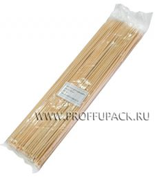 Шампуры для шашлыка 300мм (100 шт. в уп.) Бамбуковые Континент
