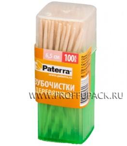 Зубочистки (пласт.баночка, 100шт.) PATERRA (401-782)