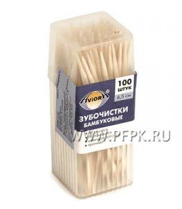 Зубочистки (пласт.баночка, 100шт.) AVIORA (401-485)