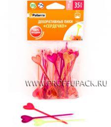 Пики для канапе СЕРДЕЧКО 8,5см (35 шт. в уп.) PATERRA (401-764)
