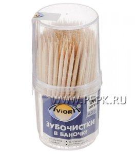 Зубочистки (пласт.баночка, 190шт.) AVIORA (401-427)