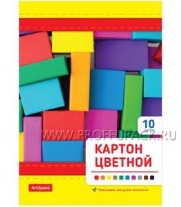 Картон цветной А5 (10 цветов 10 листов) (231-551/ Нкн10-10А5_9535)