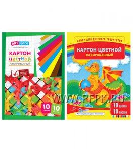 Картон цветной А4 (10 цветов 10 листов) (220-684 / Нкл10-10_6103)