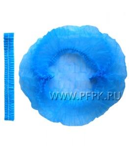 Шапочки медицинские ШАРЛОТТА (уп. 100 шт) Голубые КЛЕВЕР (МС-014В)