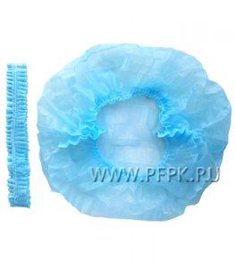 Шапочки медицинские ШАРЛОТТА (уп. 100 шт) Голубые ЭЛЕГРИН