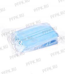 Маска защитная 3-х слойная,одноразовая (уп. 50шт) В пакете