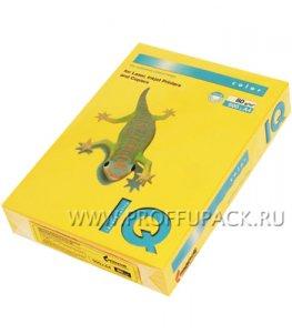 Бумага офисная цветная IQ А4, 500л. (интенсив) Солнечно-желтая (085-616/110-664 / SY40)