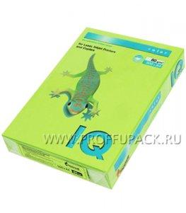 Бумага офисная цветная IQ А4, 500л. (интенсив) Зеленая липа (084-243/ 110-761 / LG46)