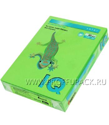 Бумага офисная цветная IQ А4, 500л. (интенсив) Ярко-зеленый (083-952/110-658 / MA42)