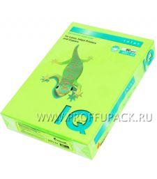 Бумага офисная цветная IQ А4, 500л. (неон) Зеленый неон (083-746 / 110-668/ NEOGN)