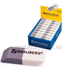 Стирательная резинка серо-белая BRAUBERG (222-461)