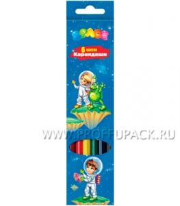 Карандаши цветные (6 цветов) Космонавты (171-423 / CP06_005)