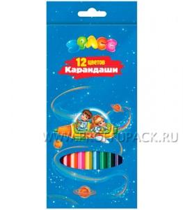 Карандаши цветные (12 цветов) Космонавты (171-424 / CP12_006)