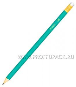 Карандаш пластиковый с ластиком (191-028 / PLPe_2813/191028)