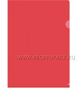 Папка-уголок жесткая А4 Красная (162-534 / Fmu15-4_868)