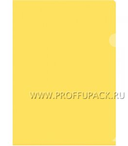 Папка-уголок жесткая А4 Желтая (162-532 / Fmu15-2_864)