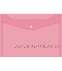Папка-конверт 235х330мм (А4) с кнопкой Красная (162-529 / Fmk12-4)