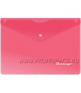 Папка-конверт 250х170мм (А5) с кнопкой Красная (192-623 / OBk_05003)