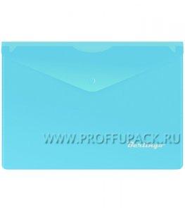 Папка-конверт 250х170мм (А5) с кнопкой Синяя (192-625 / OBk_05002)