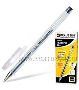 Ручка гелевая BRAUBERG 0.5мм Черная (141-018)