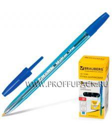 Ручка шариковая BRAUBERG Carina (Карина) 1мм Blue/Блу (141-669)