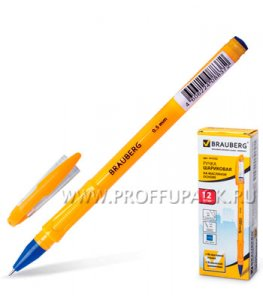 Ручка масляная BRAUBERG Oil Sharp (Ойл Шарп) 0.5мм Синяя (141-532)