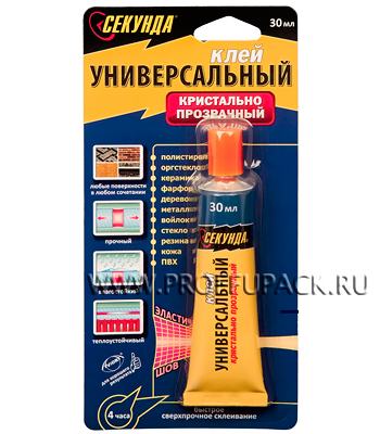 Клей СЕКУНДА универсальный 30 гр. (403-158)