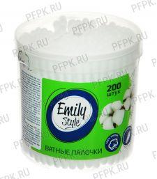 Ватные палочки Emily Style (банка 200 шт)