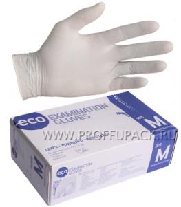 Перчатки латексные смотровые ECO (уп. 100 шт.) L