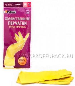 Перчатки латексные PATERRA СУПЕР ПРОЧНЫЕ M (402-394)