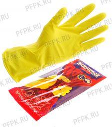 Перчатки латексные хозяйственные L (HANDWORK) [12/144]