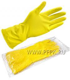 Перчатки латексные хозяйственные L (4011)