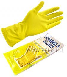 Перчатки латексные хозяйственные XL(4012)