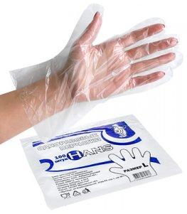 Перчатки полиэтиленовые ХАНС (уп. 100 шт.) L
