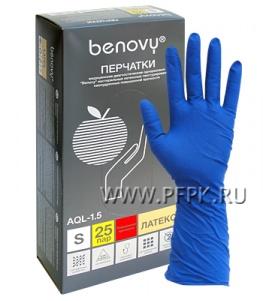 Перчатки латексные сверхпрочные медицинские BENOVY S