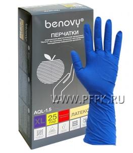 Перчатки латексные сверхпрочные медицинские BENOVY XL