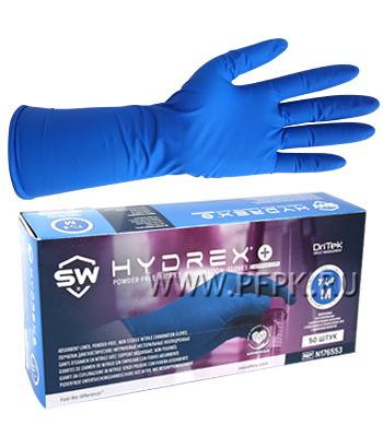 Перчатки нитриловые Hydrex+ с абсорбирующим покрытием M (размер 7-8)