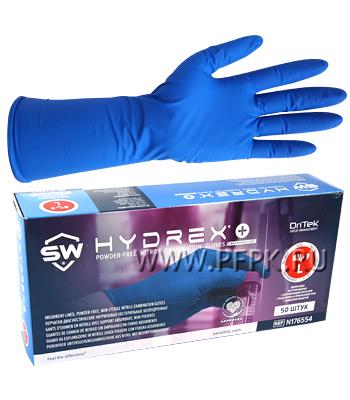 Перчатки нитриловые Hydrex+ с абсорбирующим покрытием L (размер 8-9)