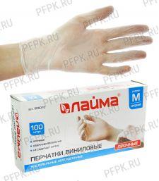 Перчатки виниловые Лайма (уп. 100 шт.) M (605-010)