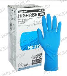Перчатки латексные MANUAL HIGH RISK (Хай риск) M