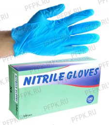 Перчатки нитриловые (уп. 100 шт.) XL (NITRILE GLOVES) [1/10]