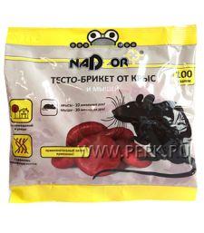Приманка от грызунов, тесто (пакет 100 гр) NADZOR NASA 369