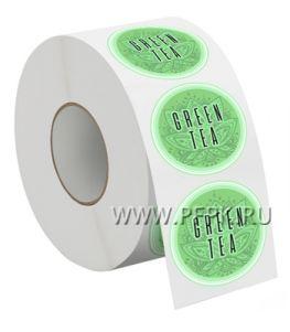 Самоклеящиеся этикетка д-р 4 см GREEN TEA