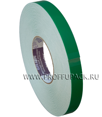 Клейкая лента двухсторонняя вспененная 19х25 BI.ESSE(зеркальная) зеленая