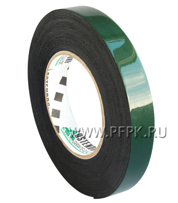 Клейкая лента двухсторонняя вспененная 19х10 OSTENDORF Зеленая