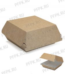 Коробка бум. для гамбургера 100х100мм h60мм крафт (М) 411-001