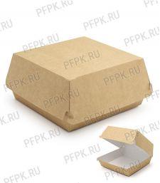 Коробка бум. для гамбургера 120х120мм h70мм крафт (L) 411-003