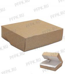 Коробка бум. V1900мл 215х165мм h55мм крафт (без окна) 411-017