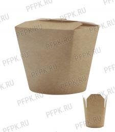 Коробка бум. для лапши V700мл 130х95мм h102мм крафт 411-040